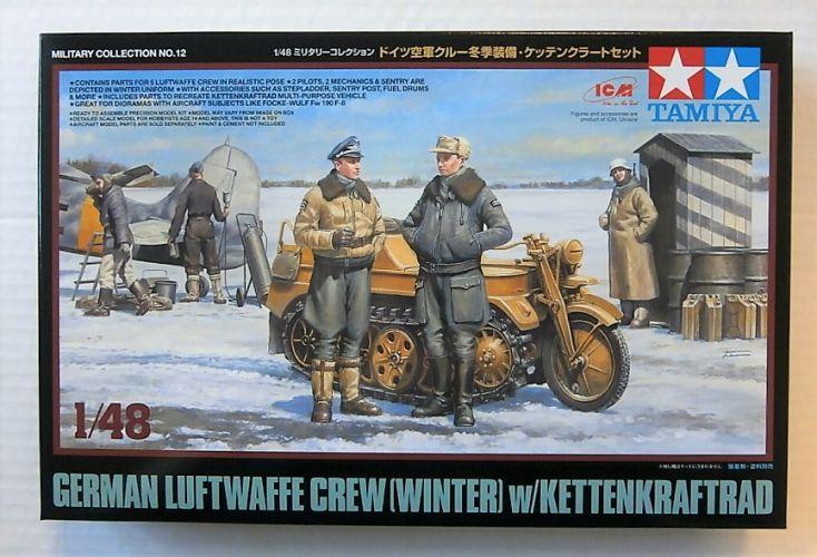 TAMIYA 1/48 32412 GERMAN LUFTWAFFE CREW  WINTER  WITH KETTENKRAFTRAD