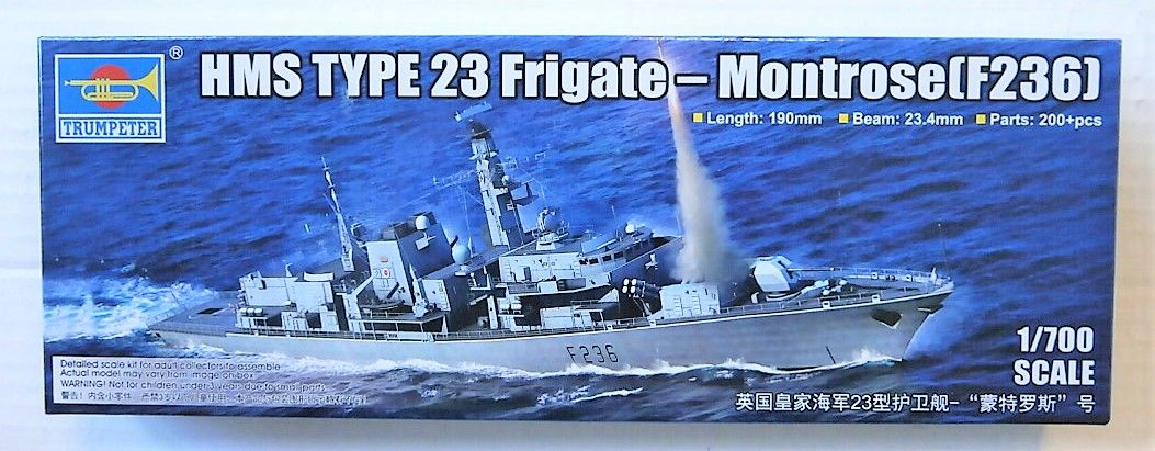 TRUMPETER 1/700 06720 HMS MONTROSE F236 TYPE 23 FRIGATE