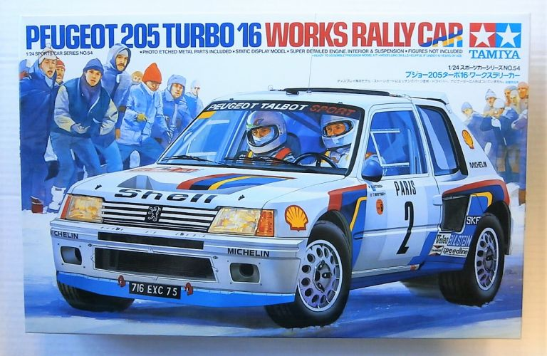 TAMIYA 1/24 24054 PEUGEOT 205 TURBO 16 WORKS RALLY CAR