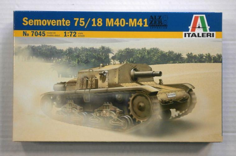 ITALERI 1/72 7045 SEMOVENTE 75/18 M40-M41