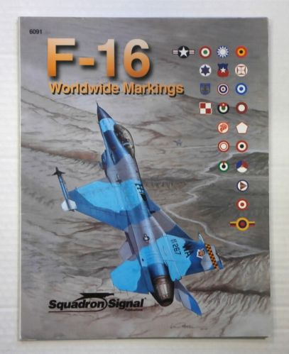 CHEAP BOOKS  ZB895 SQUADRON/SIGNAL 6091 F-16 WORLDWIDE MARKINGS