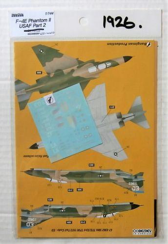 1/144 1926. WATERSLIDE DECAL ED-44018 F-4E PHANTOM II USAF PART 2