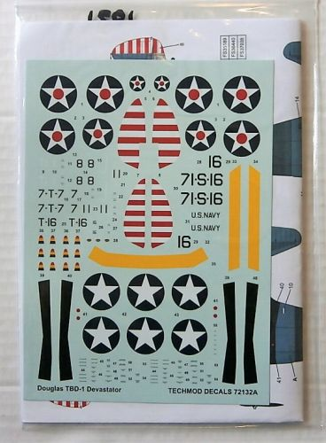 TECHMOD 1/72 1931. 72132 DOUGLAS TBD-1 DAVASTATOR
