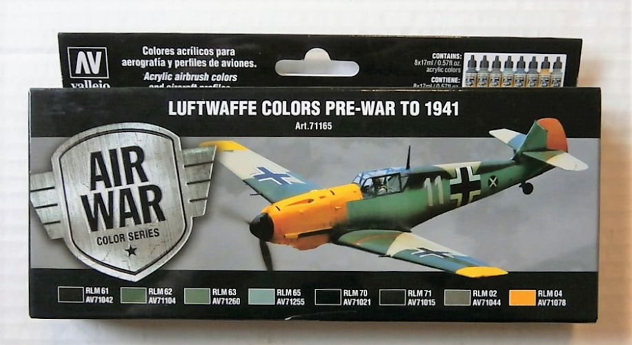 VALLEJO  71165 LUFTWAFFE COLOURS PR-WAR TO 1941