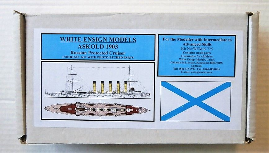 WHITE ENSIGN 1/700 K725 ASKOLD 1903 RUSSIAN PROTECTED CRUISER