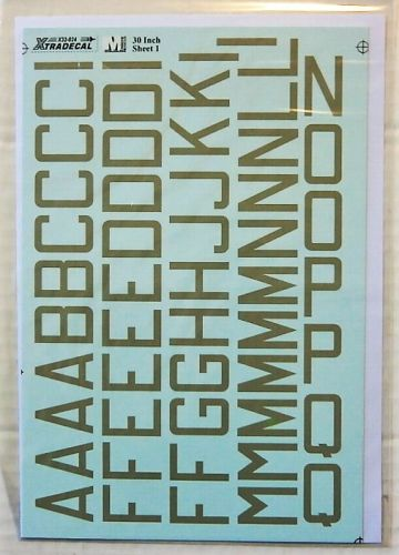 XTRADECAL 1/32 32024 RAF CODE LETTERS AND NUMBERS 30 INCH DOUBLE SHEET