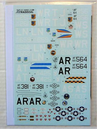 XTRADECAL 1/48 48063 USAFE F-4D/ RF-4C PHANTOMS PT.2 ALCONBURY/BENTWATERS/LAKENHEATH