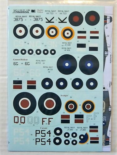 XTRADECAL 1/48 48103 YANKS WITH ROUNDELS PT.2 U.S. AIRCRAFT IN THE FLEET AIR ARM