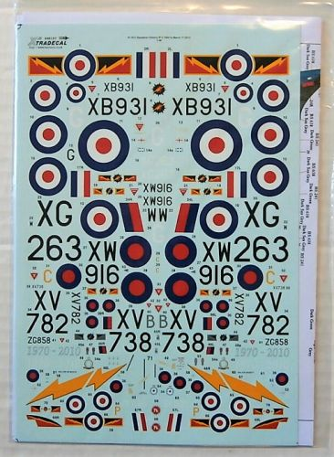 XTRADECAL 1/48 48107 RFC/RAF 100 YEARS OF 4SQN PART 2