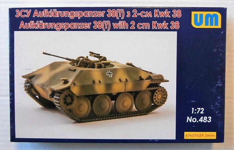 UNIMODEL 1/72 483 AUFKLARUNGSPANZER 38 T  WITH 2CM KWK 38