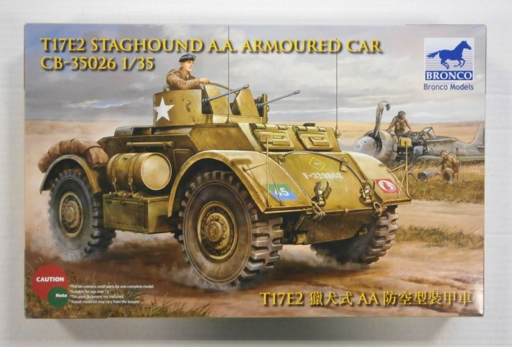 BRONCO 1/35 35026 T17E2 STAGHOUND A.A. ARMOURED CAR