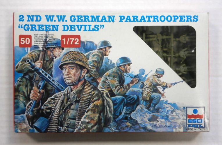 ESCI 1/72 244 WWII GERMAN PARATROOPERS GREEN DEVILS