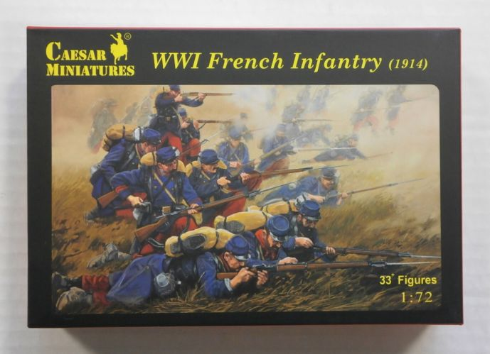 CAESAR MINATURES 1/72 H034 WWI FRENCH INFANTRY