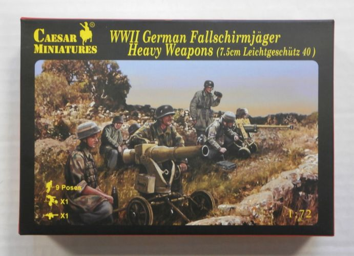 CAESAR MINATURES 1/72 H098 WWII GERMAN FALLSCHIRMJAGER HEAVY WEAPONS