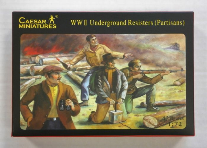 CAESAR MINATURES 1/72 H006 WWII UNDERGROUND RESISTERS