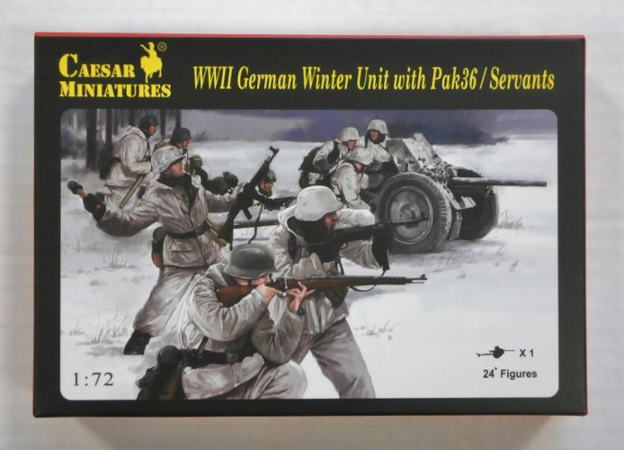 CAESAR MINATURES 1/72 H097 WWII GERMAN WINTER UNIT WITH PAK36