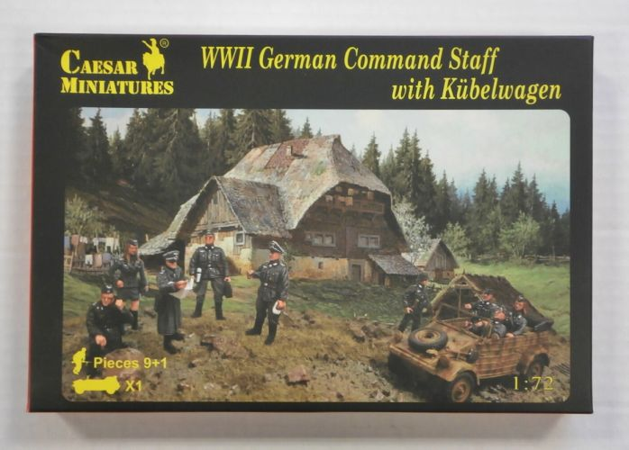 CAESAR MINATURES 1/72 H095 WWII GERMAN COMMAND STAFF WITH KUBELWAGON