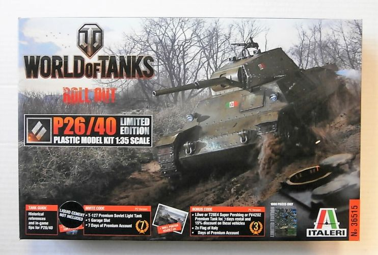 ITALERI 1/35 36515 WORLD OF TANKS ROLL OUT LIMITED EDITION P26/40