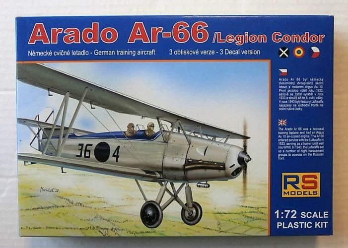 RS MODELS 1/72 92060 ARADO Ar-66/LEGION CONDOR