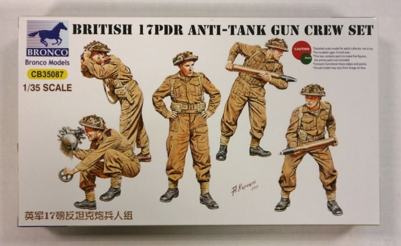 BRONCO 1/35 35087 BRITISH 17PDR ANTI-TANK GUN CREW SET