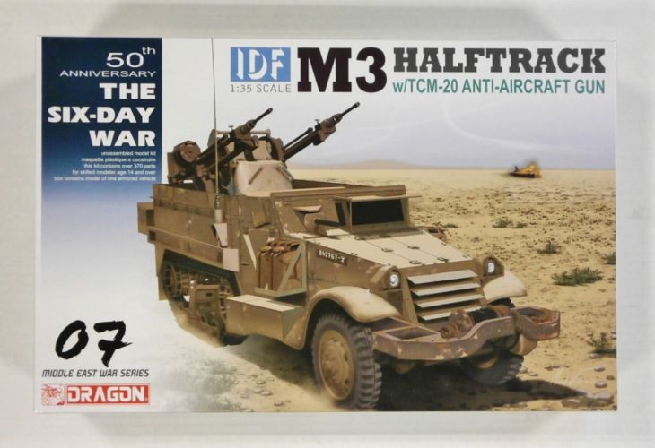 DRAGON 1/35 3586 M3 HALFTRACK w/TMC-20 ANTI-AIRCRAFT GUN 50tH ANNIVERSARY THE SIX-DAY WAR