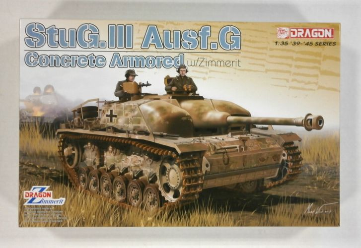 DRAGON 1/35 6891 StuG.III Ausf.G CONCRETE ARMORED w/ZIMMERIT