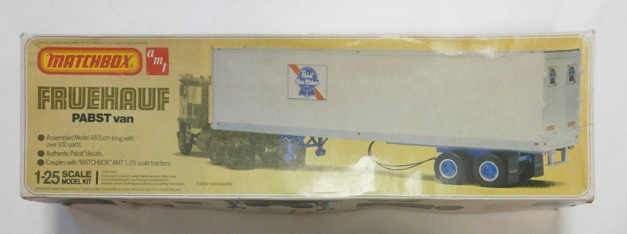 MATCHBOX 1/25 6611 FRUEHAUF PABST VAN TRAILER TRACTOR NOT INCLUDED