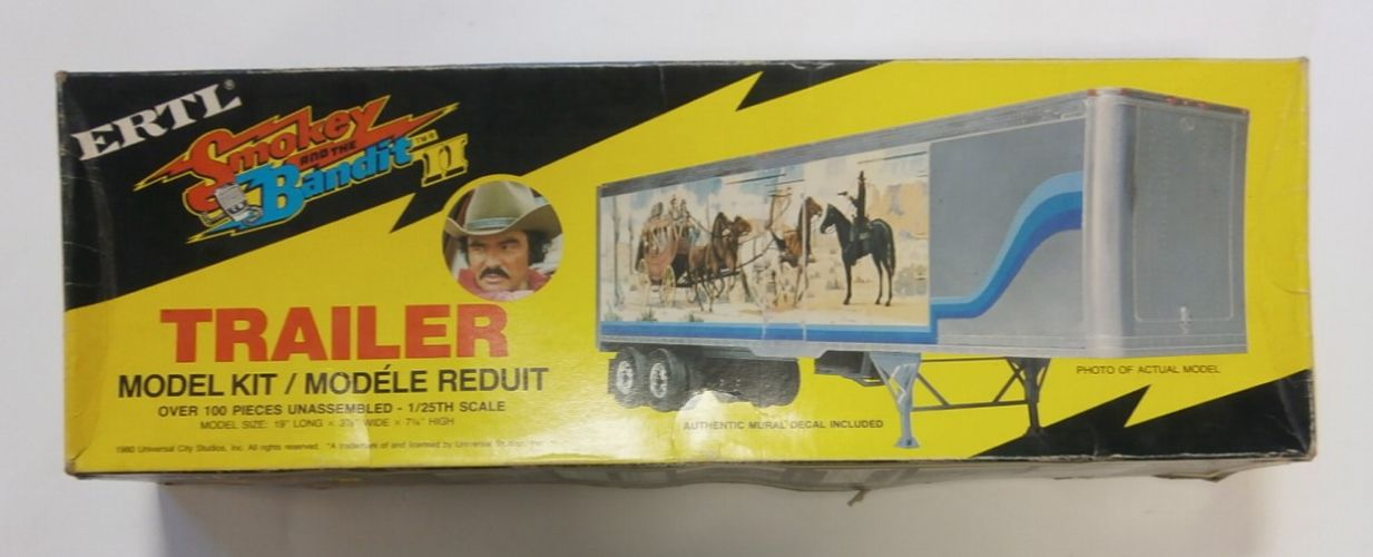 ERTL 1/25 8035 SMOKEY AND THE BANDIT TRAILER BURT REYNOLDS