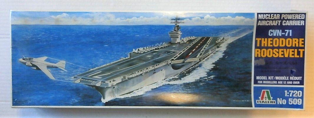 ITALERI 1/720 509 CVN-71 U.S.S. THEODORE ROOSEVELT