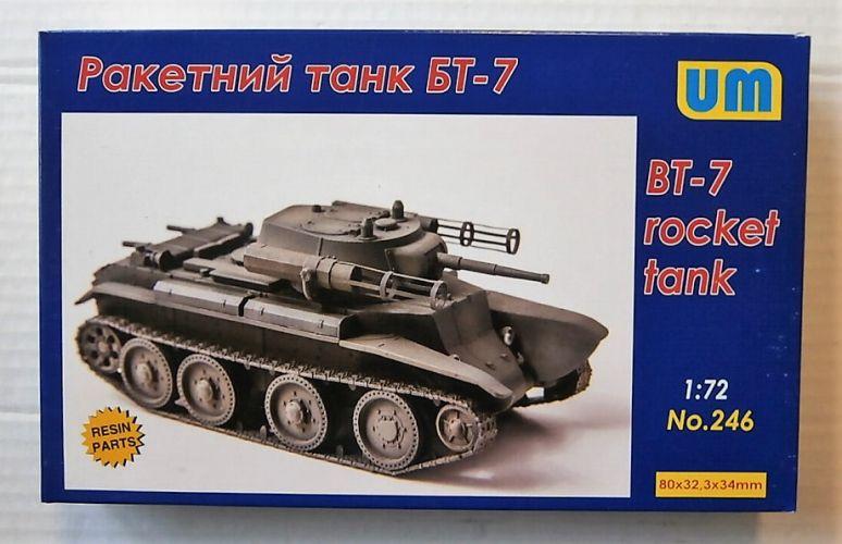 UNIMODEL 1/72 246 BT-7 ROCKET TANK