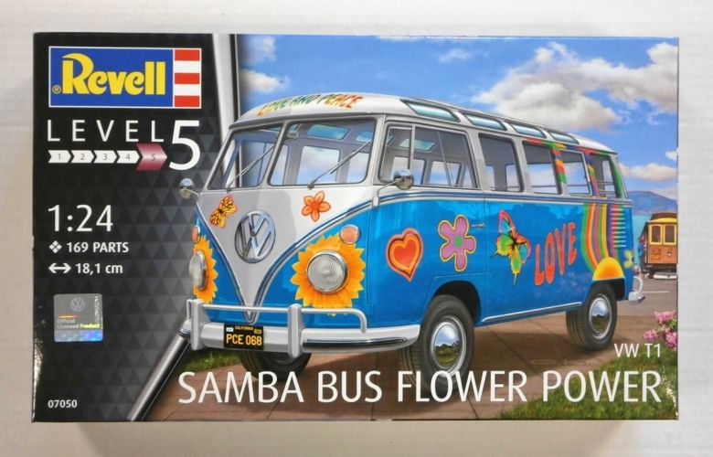 REVELL 1/24 07050 SAMBA BUS FLOWER POWER VW T1