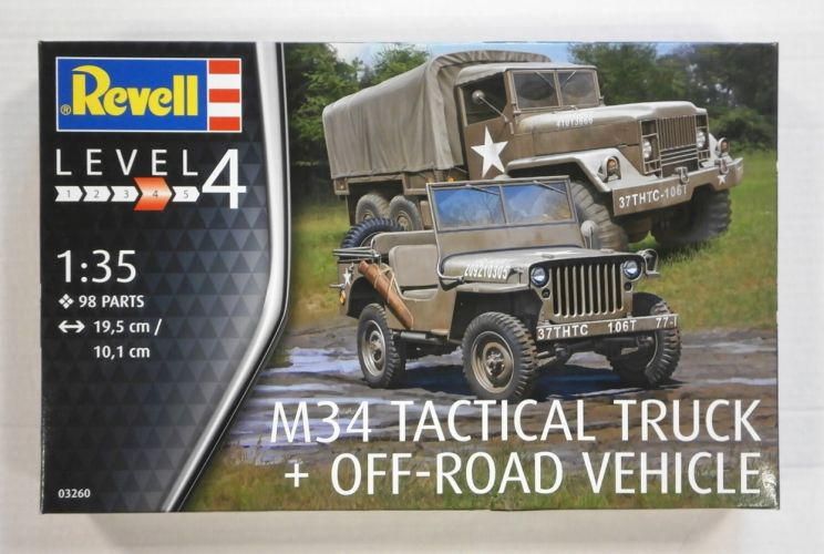 REVELL 1/35 03260 M34 TACTICAL TRUCK   OFF-ROAD VEHICLE