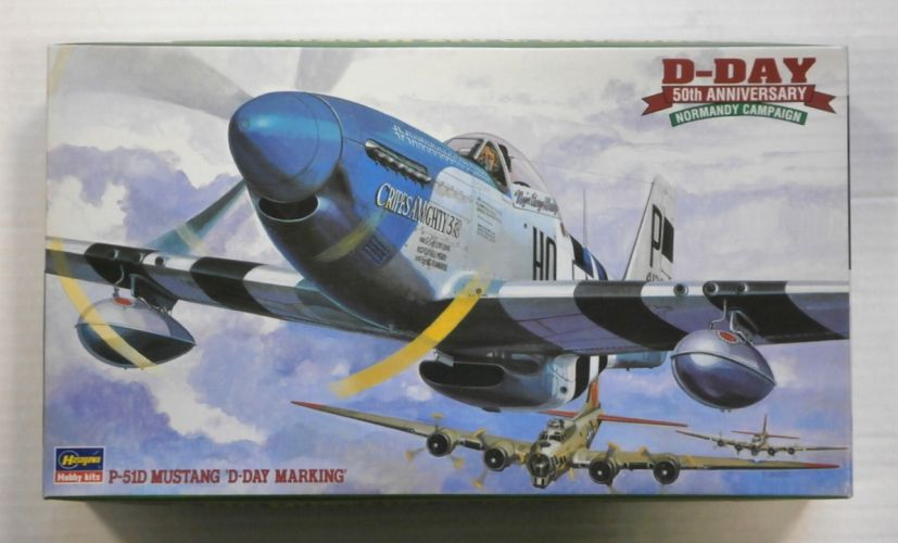 HASEGAWA 1/48 JT102 P-51D MUSTANG D-DAY MARKING