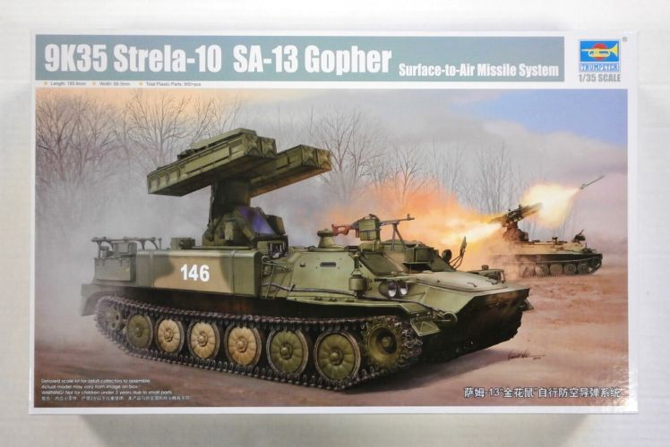 TRUMPETER 1/35 05554 9K35 STRELA-10 SA-13 GOPHER SURFACE-TO-AIR MISSILE SYSTEM