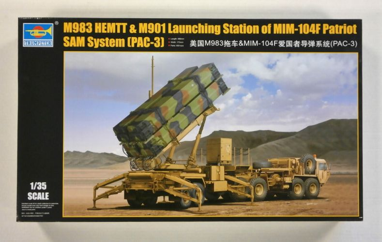 TRUMPETER 1/35 01037 M983 HEMTT   M901 LAUNCHING STATION OF MIM-104F PATRIOT SAM SYSTEM  PAC-3