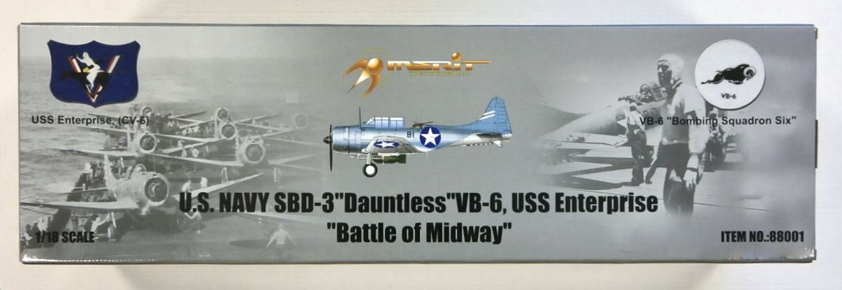 MERIT 1/18 88001 DOUGLAS SBD-3 DAUNTLESS BATTLE OF MIDWAY  UK SALE ONLY