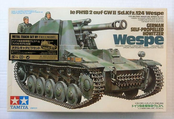 TAMIYA 1/35 89619 le FH18/2 auf GWII Sd.Kfz.124 WESPE WITH FRUILMODEL METAL TRACK SET