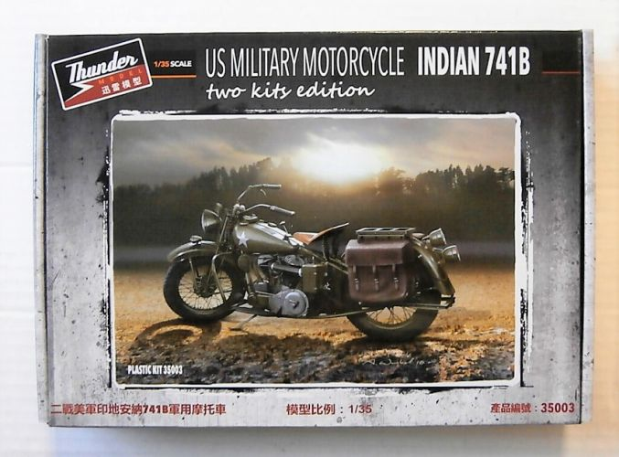 THUNDER MODEL 1/35 35003 US MILITARY MOTORCYCLE INDIAN 741B