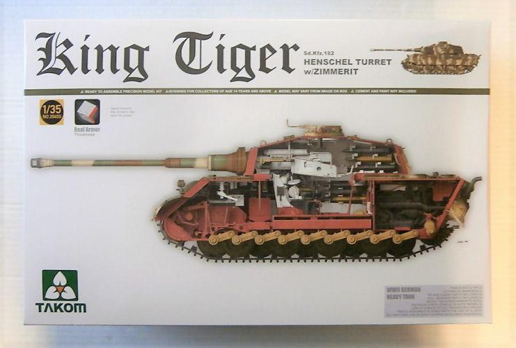 TAKOM 1/35 2045S KING TIGER HENSCHEL TURRET W/ZIMMERIT AND INTERIOR