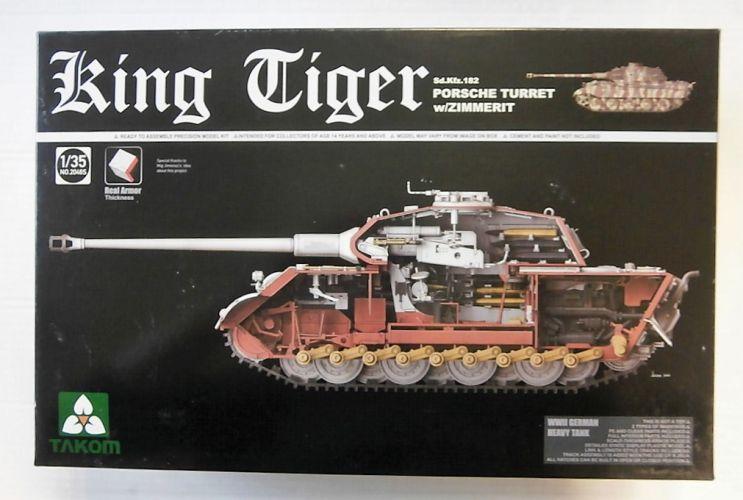 TAKOM 1/35 2046S KING TIGER PORSCHE TURRET W/ZIMMERIT AND INTERIOR