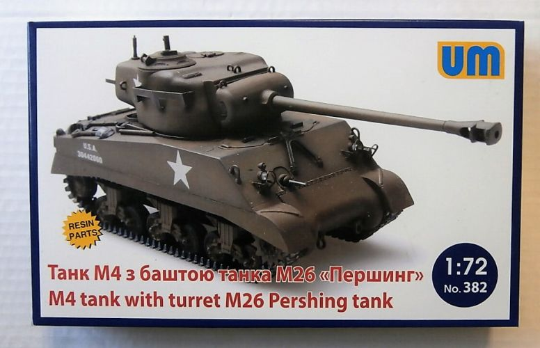 UNIMODEL 1/72 382 M4 TANK WITH TURRET M26 PERSHING TANK