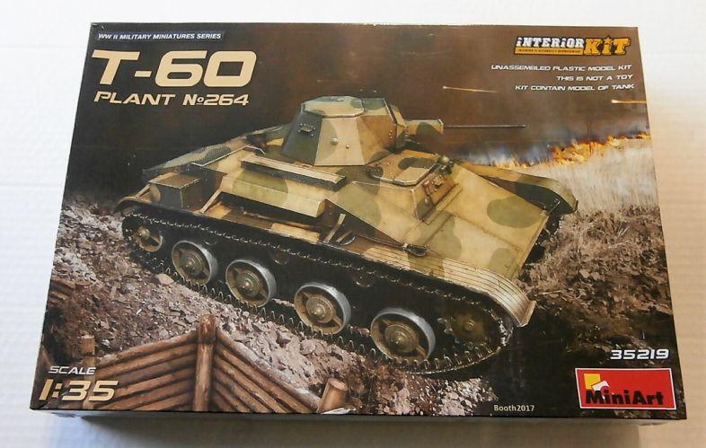MINIART 1/35 35219 T-60 PLANT No264 W/ INTERIOR