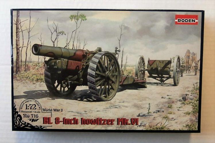 RODEN 1/72 716 BL 8-INCH HOWITZER Mk.VI