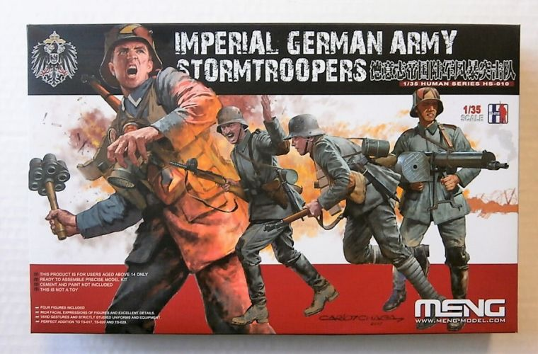 MENG 1/35 HS-010 IMPERIAL GERMAN ARMY STORMTROOPERS