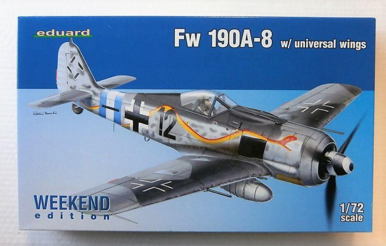 EDUARD 1/72 7443 Fw 190A-8 W/ UNIVERSAL WINGS