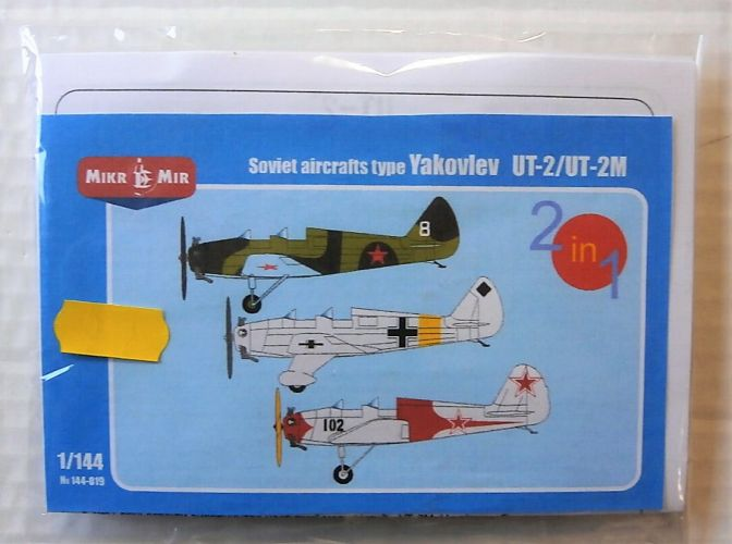 MICRO-MIR 1/144 144019 SOVIET AIRCRAFTS TYPE YAKOVLEV UT-2/UT-2M