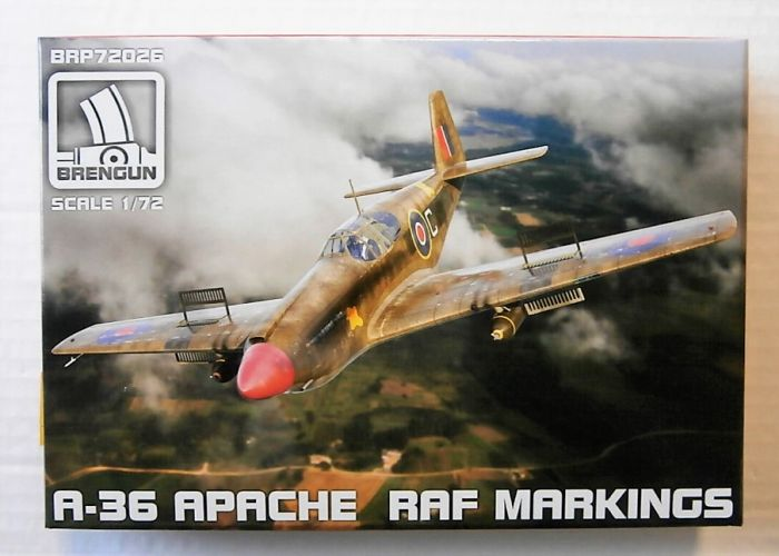 BRENGUN 1/72 72026 A-36 APACHE RAF MARKINGS