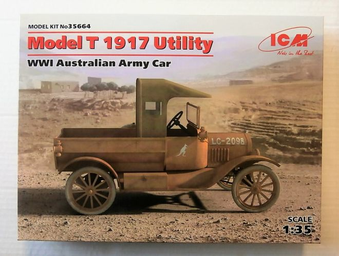 ICM 1/35 35664 MODEL T 1917 UTILITY WWI AUSTRALIAN ARMY CAR