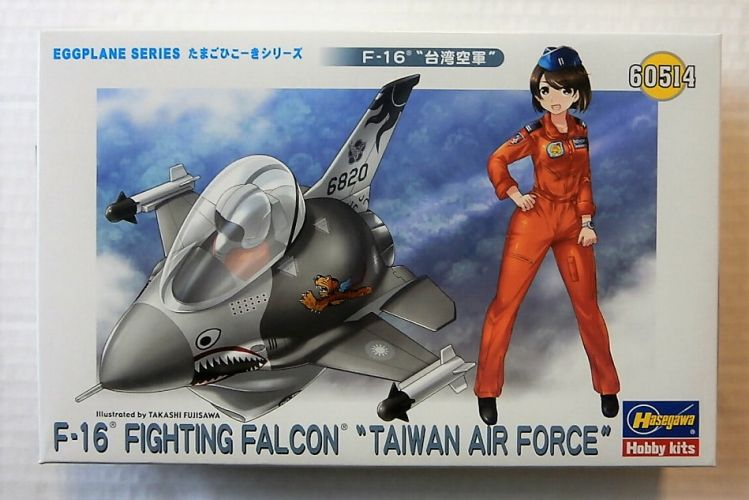 HASEGAWA  60514 EGGPLANE SERIES F-16 FIGHTING FALCON TAIWAN AIR FORCE