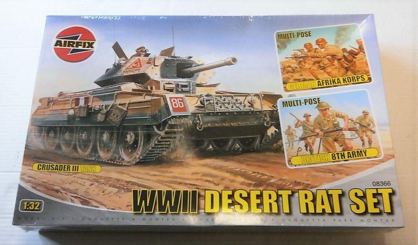 AIRFIX 1/32 08366 DESERT RATS SET CRUSADER/8th ARMY AFK FIGURES